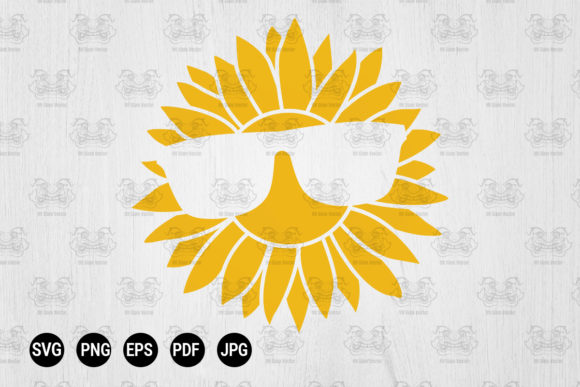 Print on Demand: Sunflower Sunglasses Graphic Print Templates By CraftsCreateShop