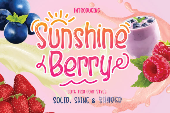 Print on Demand: Sunshine Berry Display Font By Hydric Design