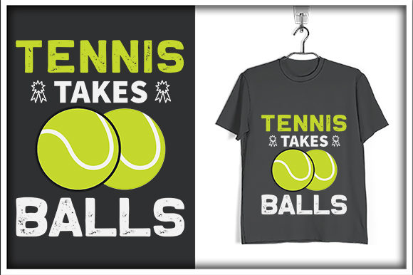Print on Demand: Tennis Takes Balls Graphic Print Templates By svg_hut