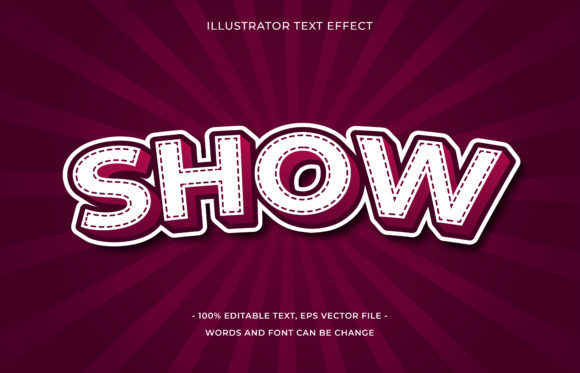 Text Effect Editable - Show Graphic Add-ons By aalfndi