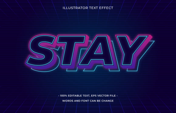 Text Effect Editable - Stay Graphic Add-ons By aalfndi