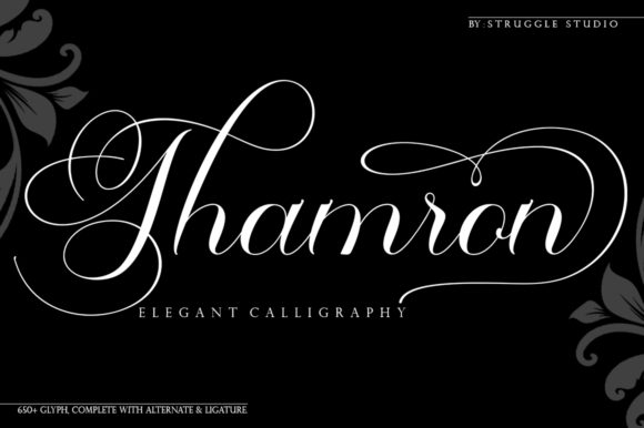 Print on Demand: Thamron Script & Handwritten Font By Struggle Studio