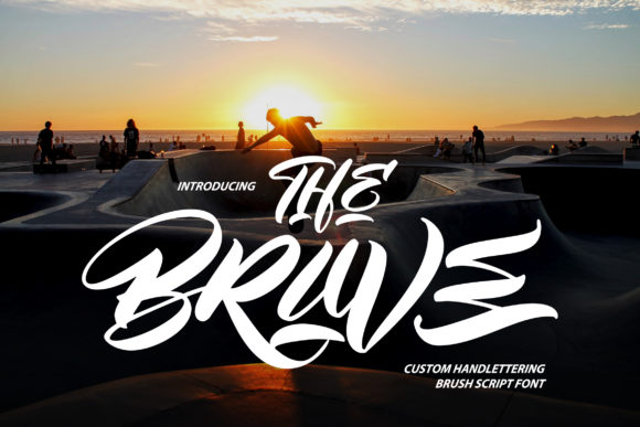 Print on Demand: The Brave Script & Handwritten Font By Vunira