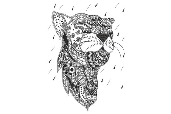 The Cougar 1 Cats Embroidery Design By BabyNucci Embroidery Designs - Image 1