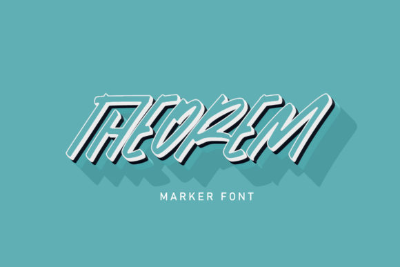 Print on Demand: Theorem Script & Handwritten Font By Vunira