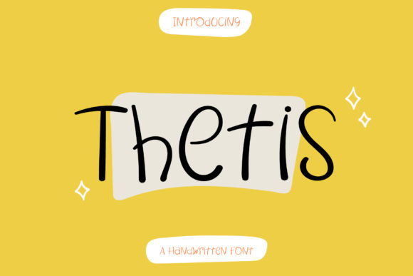 Print on Demand: Thetis Script & Handwritten Font By Wanida Toffy