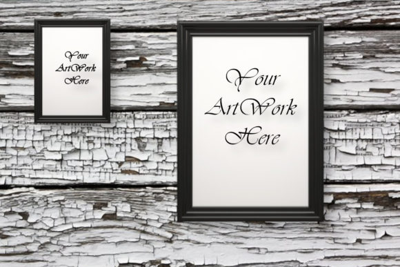 Two Photo Frames Mockup Flat Lay Graphic Product Mockups By MockupsByGaby