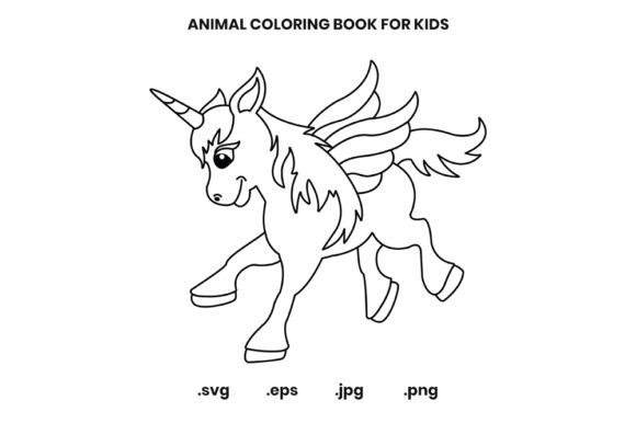 Print on Demand: Unicorn Coloring Page for Kids Graphic Coloring Pages & Books Kids By doridodesign