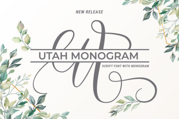 Print on Demand: Utah Monogram Script & Handwritten Font By BaeMary
