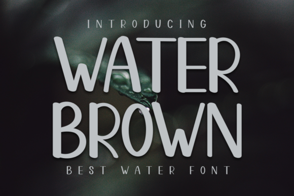 Print on Demand: Water Brown Display Font By ONE DESIGN
