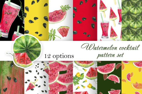 Print on Demand: Watermelon Digital Printing Paper Graphic Textures By ElenaZlataArt