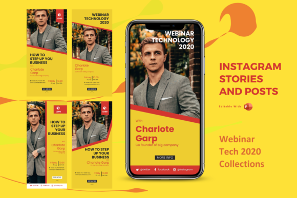 Print on Demand: Webinar Instagram Stories and Posts Graphic Presentation Templates By rivatxfz