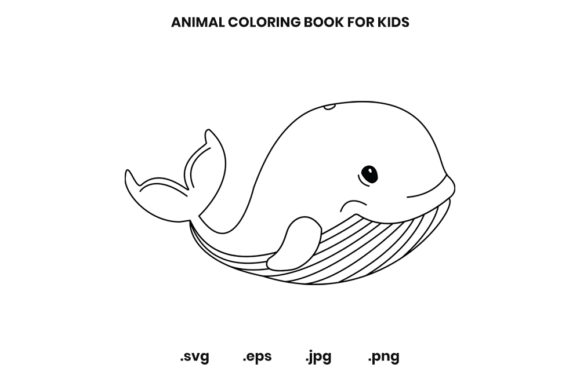 Whale Coloring Page For Kids Graphic By Doridodesign · Creative Fabrica