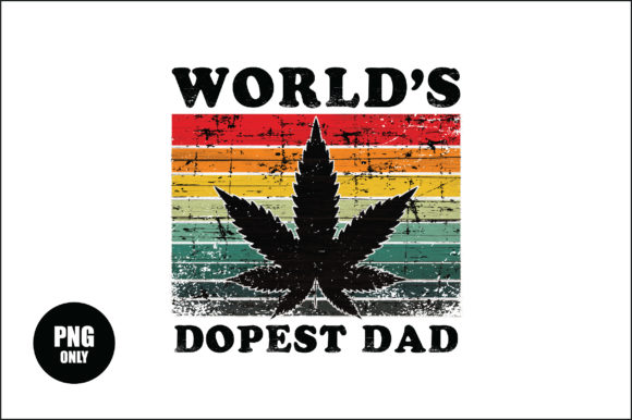 Print on Demand: Worlds Dopest Dad Sublimation Design Graphic Crafts By FauzIDEAStudio