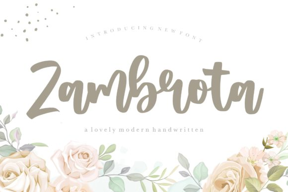 Print on Demand: Zambrota Script & Handwritten Font By Balpirick