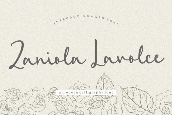 Print on Demand: Zaniola Lavolce Script & Handwritten Font By Balpirick