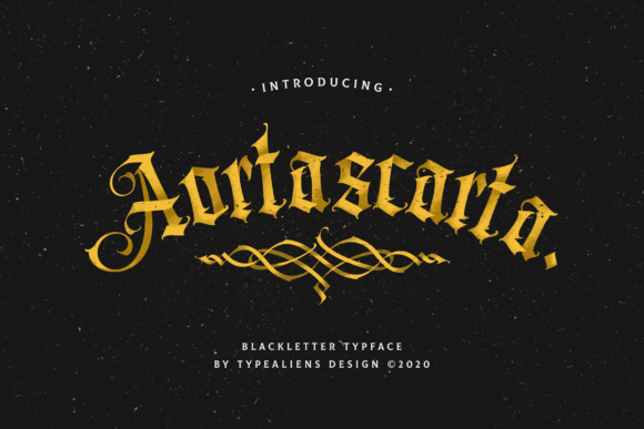 Print on Demand: Aortascarta Blackletter Font By typealiens