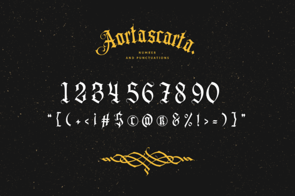 Print on Demand: Aortascarta Blackletter Font By typealiens - Image 10
