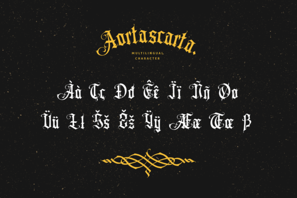 Print on Demand: Aortascarta Blackletter Font By typealiens - Image 11