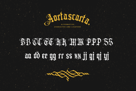 Print on Demand: Aortascarta Blackletter Font By typealiens - Image 12