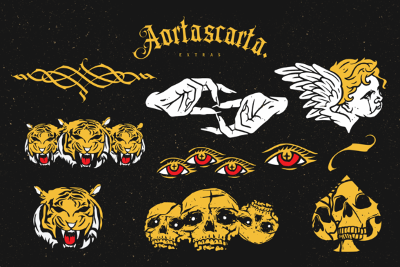 Print on Demand: Aortascarta Blackletter Font By typealiens - Image 13