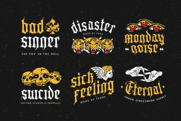 Print on Demand: Aortascarta Blackletter Font By typealiens - Image 2