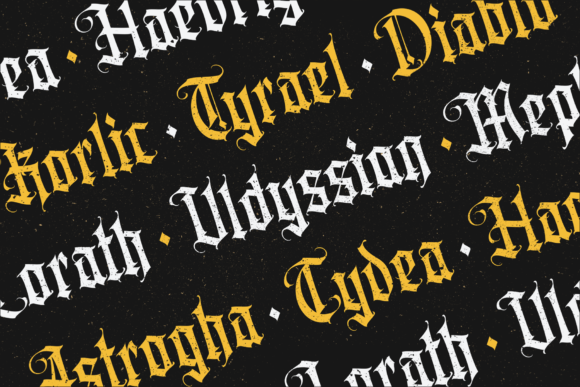 Print on Demand: Aortascarta Blackletter Font By typealiens - Image 4