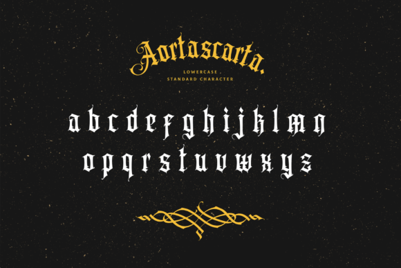Print on Demand: Aortascarta Blackletter Font By typealiens - Image 8