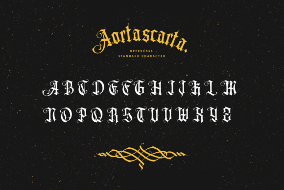 Print on Demand: Aortascarta Blackletter Font By typealiens - Image 9
