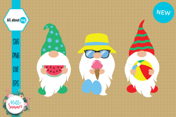 Beach Summer Gnomies   Graphic Crafts By All About Svg