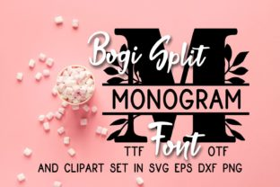 Print on Demand: Bogi Split Monogram Decorative Font By Eva Barabasne Olasz