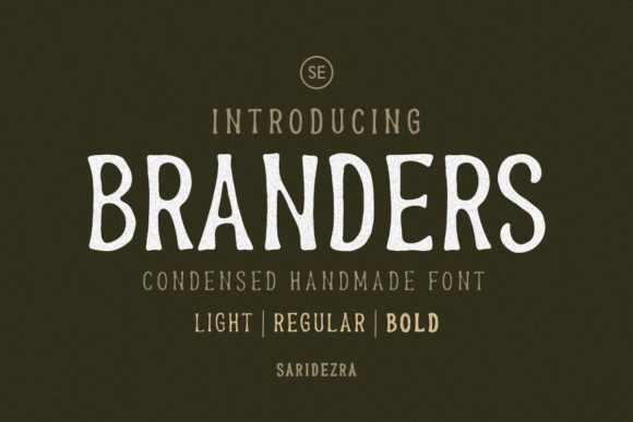 Print on Demand: Branders Display Font By saridezra