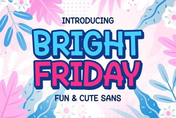 Print on Demand: Bright Friday Display Font By variatype.id