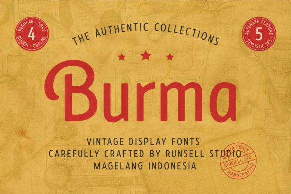 Print on Demand: Burma Display Font By Runsell Graphic