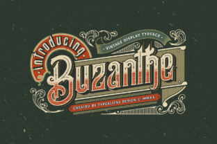 Print on Demand: Buzanthe Display Font By typealiens