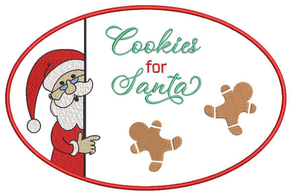 Print on Demand: Christmas Design, Cookies for Santa Christmas Embroidery Design By Embroidery Shelter