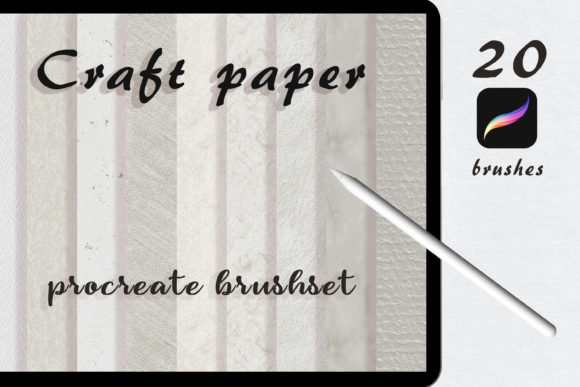 Craft Paper Procreate Brushset Graphic Brushes By liquid amethyst art