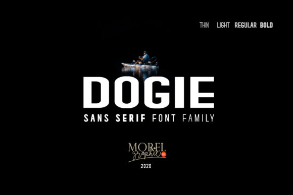 Print on Demand: Dogie Sans Serif Font By morelgraphic
