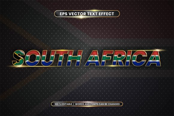 Editable Text Effect - South Africa Word Graphic Add-ons By rahmaalkhansa