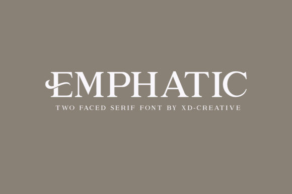 Print on Demand: Emphatic Serif Font By kudocreative