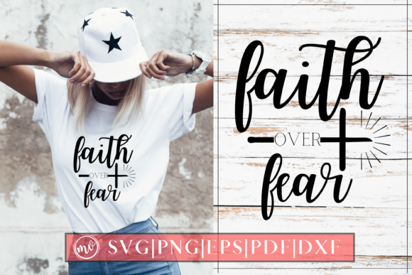Print on Demand: Faith over Fear Graphic Crafts By Mockup Venue