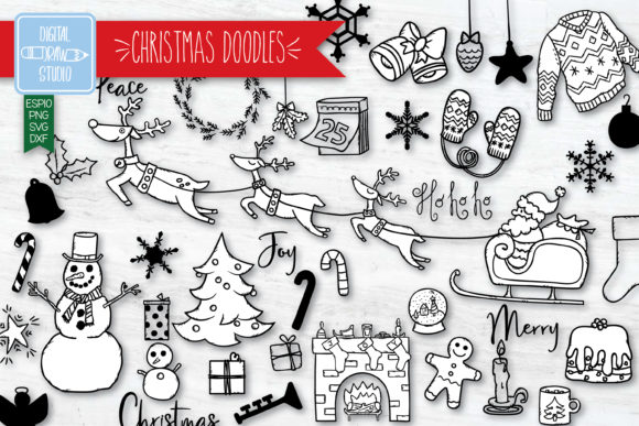 Hand Drawn Christmas | New Year Holiday Graphic Illustrations By Digital_Draw_Studio