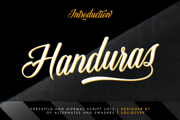 Print on Demand: Handuras Script & Handwritten Font By Solidtype