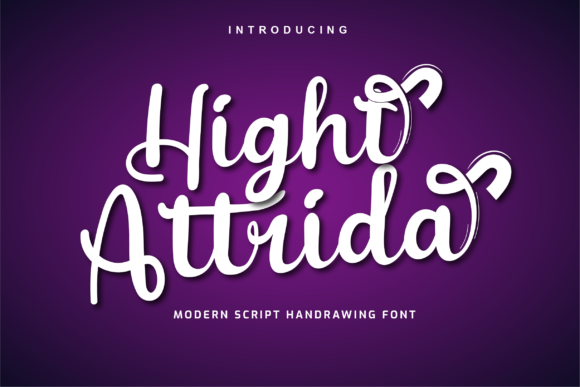 Print on Demand: Hight Attrida Script & Handwritten Font By twinletter