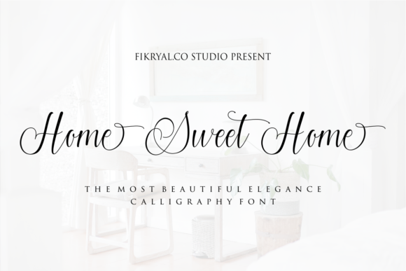 Print on Demand: Home Sweet Home Script & Handwritten Font By mfikryalif