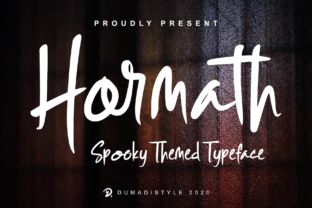 Print on Demand: Hormath Script & Handwritten Font By DUMADI