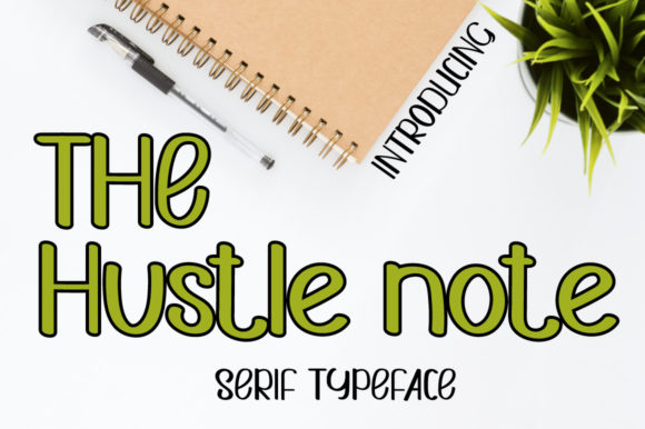 Print on Demand: Hustle Note Script & Handwritten Font By iqbalfaizinm