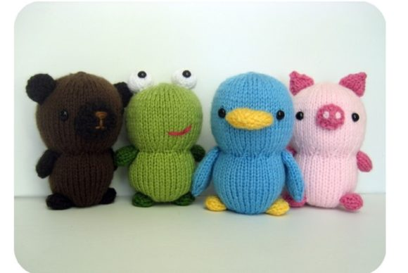 Knit Animal Friends Pattern Set Graphic Knitting Patterns By Amy Gaines Amigurumi Patterns - Image 2