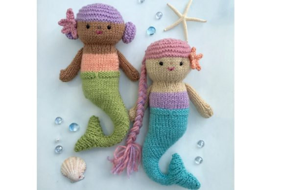 Knit Mermaid Dolls Pattern Graphic Knitting Patterns By Amy Gaines Amigurumi Patterns - Image 3