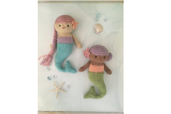 Knit Mermaid Dolls Pattern Graphic Knitting Patterns By Amy Gaines Amigurumi Patterns - Image 4
